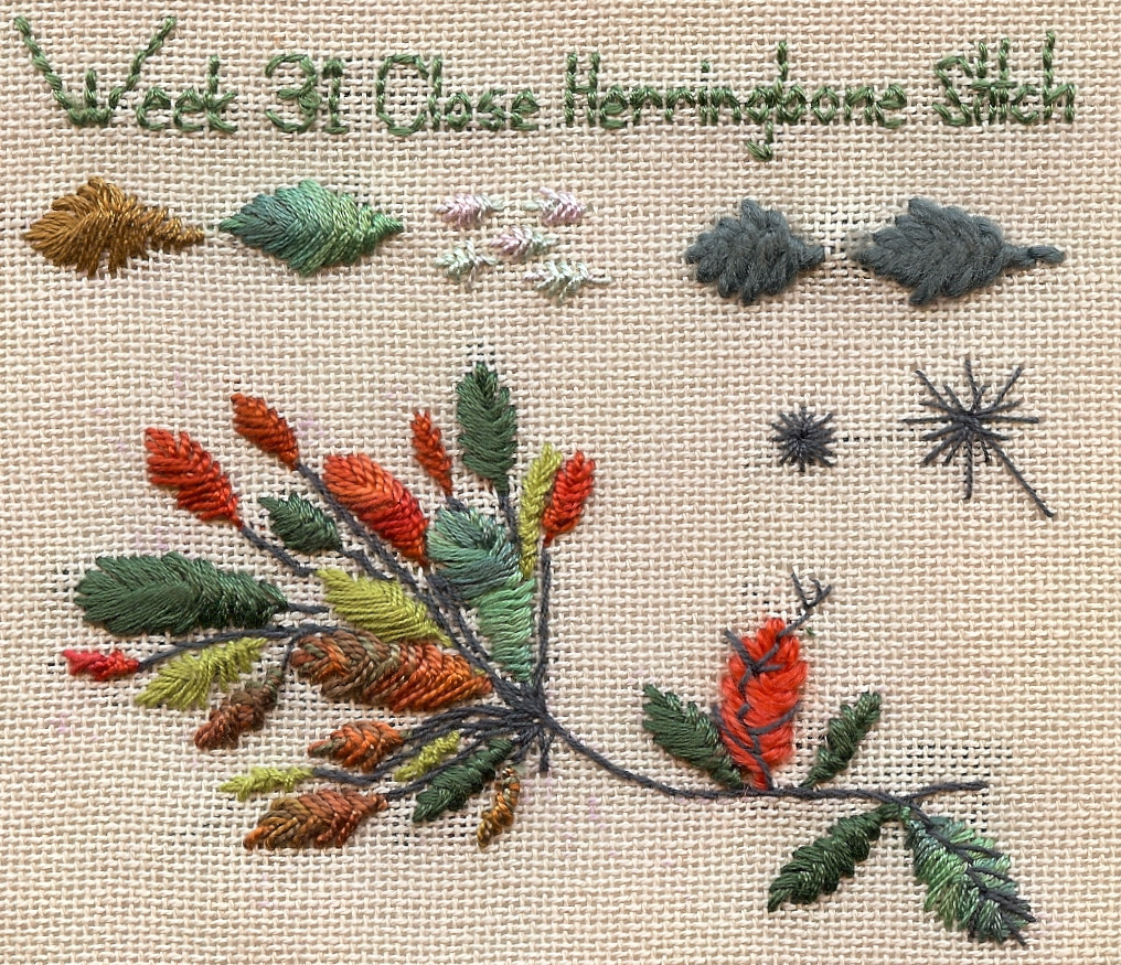 caro-rose-creations: TAST 2010 -Week 31- Close Herringbone Stitch
