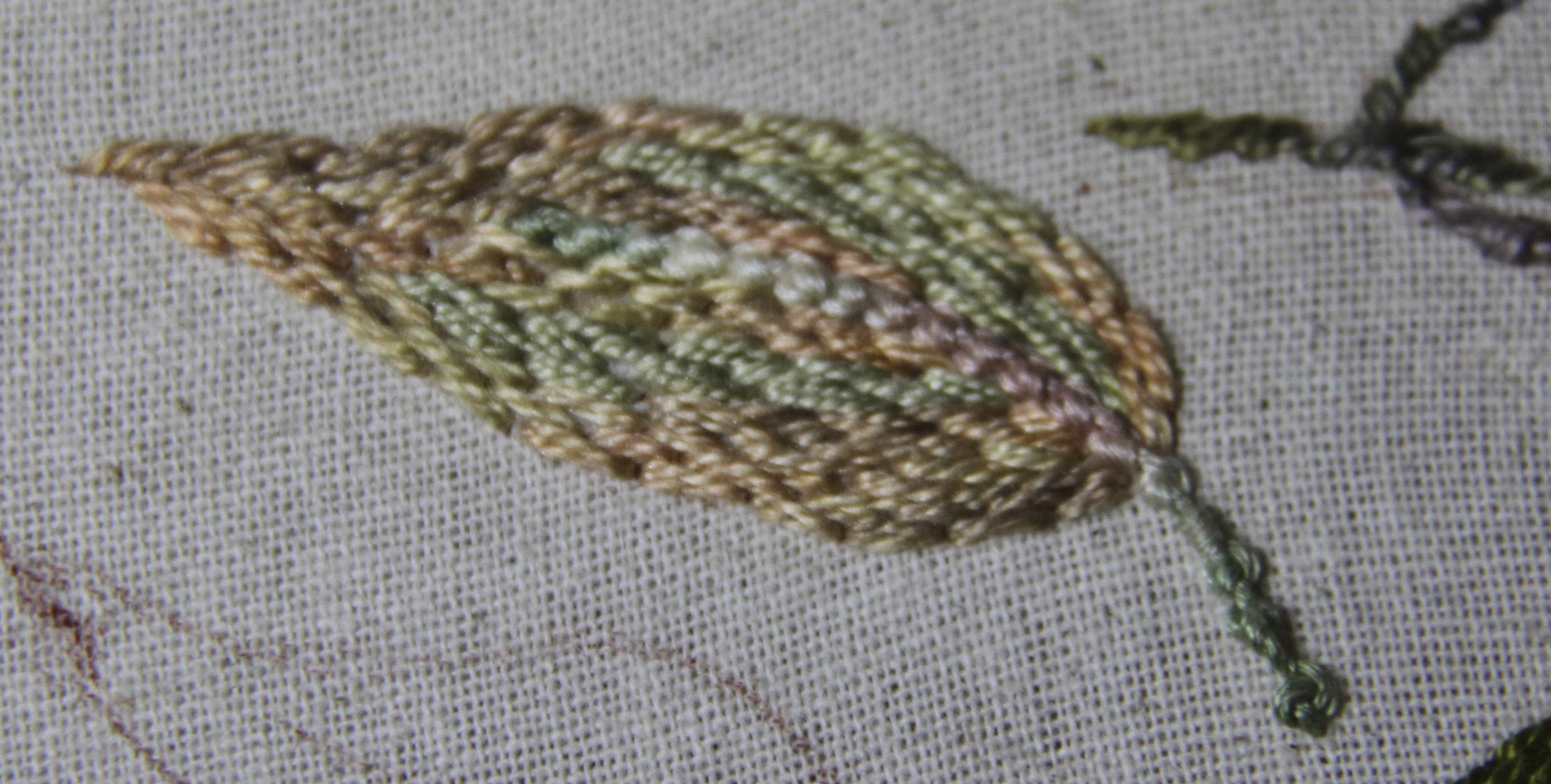 Caro Rose Creations Tast 2013 Stitch 73 Portuguese Stem Stitch